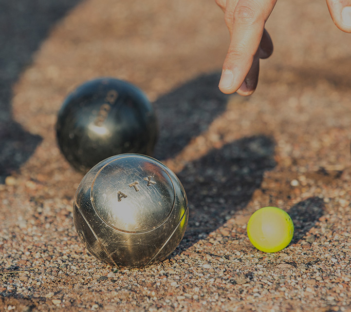 competitions and experienced players boules range